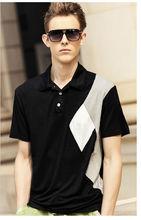 Slim fit style Plain dyed black collar white mens dress shirt