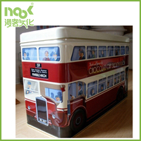 Bus style big biscuits packaging tin box/tin container for cookies