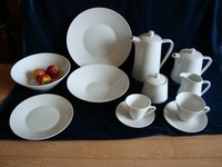 Modern chinese porcelain ceramic tableware opal dinner set