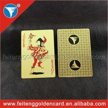 alta calidad de encargo-hizo naipe de oro con el logotipo en relieve