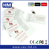 Environmental protection paper Business card USB flash drive for advertising promotional