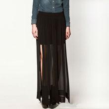YIGELILA 2013 Nueva moda falda Maxi falda larga 580