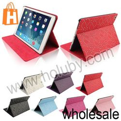 For iPad Air Case,Diamante Pattern Folio Stand Leather Case Cover for iPad 5