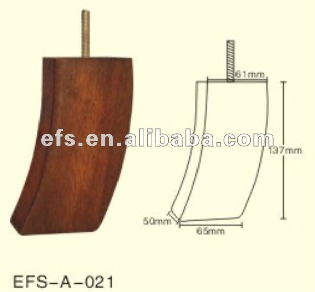 Low Price with lovely small wood sofa bun feet(EFS-A-052)