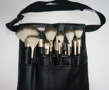 Best Quality 18pcs Synthetic Hair Black Professional Makeup Brush With Belt Bag