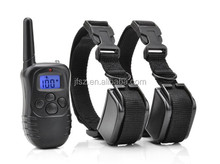 300 Yards blue backlight LCD dog training collar can control 2 dogs
