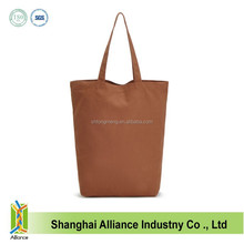 Reuseable 10oz Organic Cotton Canvas Brown Color Blank Shopping Tote Bag