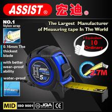 2015 new Assist tools design model popular in America nylon wrap 0.16mm rubber case tape measure