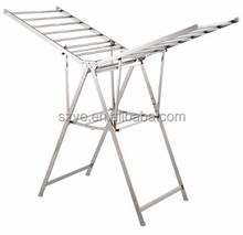 Adjustable Heavy Duty Clothes Drying Rack For Garment with wings