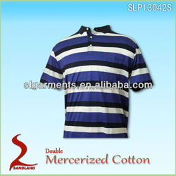 MENS YARN DYED GOLF POLO T SHIRT WHOLESALE IN CHINA