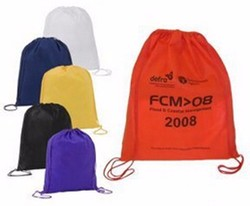 Customized Logo Personalized Nylon Drawstring Travel Backpack Bags