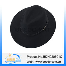 Winter michael jackson felt fedora with leather band for men
