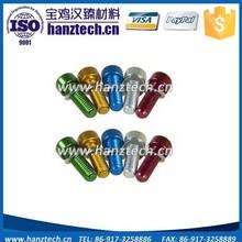 Colored titanium socket head cap screws