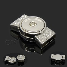 High quality alloy snap button magnetic clasp accessory for flat leather, hole size 15*3mm