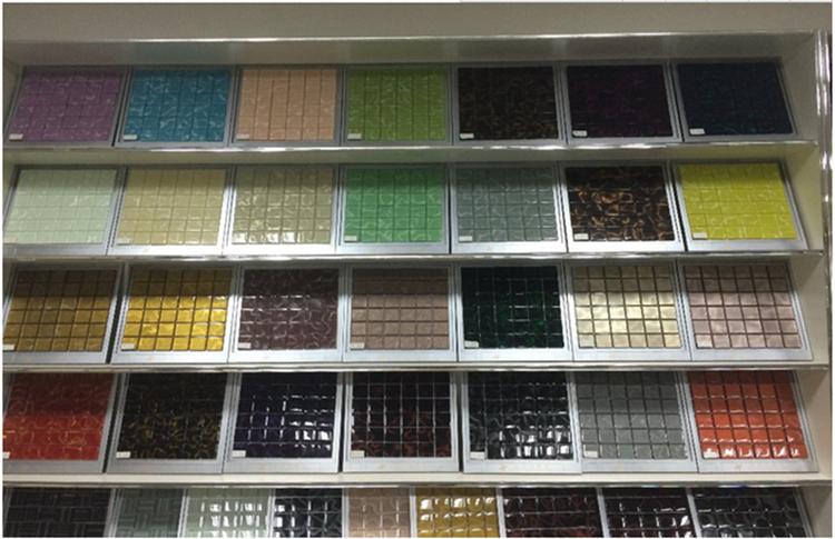 maillage carreaux de verre avec pe mousse film pour sol et mur d coration tuiles id de produit. Black Bedroom Furniture Sets. Home Design Ideas