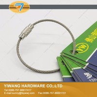 10 years manufacturer direct wholesale stainless steel cable keyring