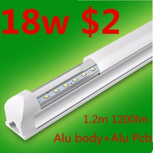 Aluminum body and PCB T8 18w 1200lm24w xxx aminal video led tube lighting light with price $2