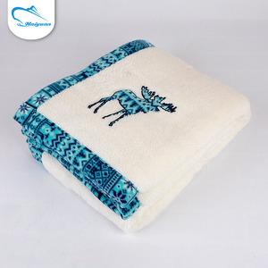 Boa qualidade popular 100% poliéster uso doméstico variedades cobertor