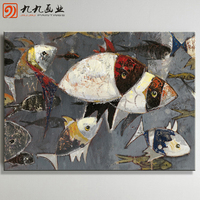 Wholesale Handmade paintings canvas fish oil Painting
