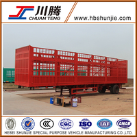 Semi-trailer stake truck truck trailer