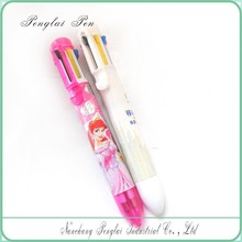 2015 8 in 1 refill color ballpoint pen with heat transfer printing