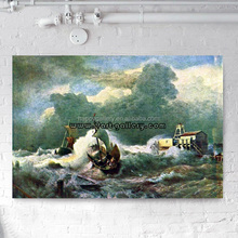 Seascape Oil Painting, Sea Landscape with boats - Marine