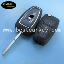 Hot Sale 3 button remote car key cover for ford focus key ford key cover for new focus 2012
