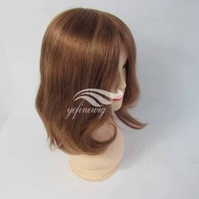 12 Inches Color #8 Bob Style Chinese Hair High Quality Alopecia Wig