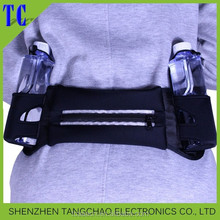 Running waist belt with led light sport belt led zipper waistband for outdoor sports