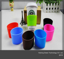 2015 Reusable Coffee Plastic Travel Mug Silicone Sleeve Lovely Prints Thermal Cup