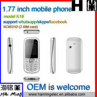 hot selling for africa market low end mobile phone support whatsapp skype facebook function model K16