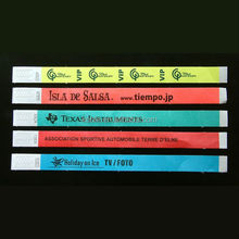 Cheap non reusable tyvek paper wristband