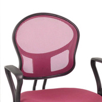 Pink Office/Computer Chair with arms with fabric pads(stocked at England)