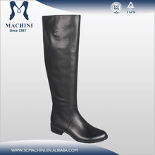 Flat genuine leather over the knee ladies boots chengdu