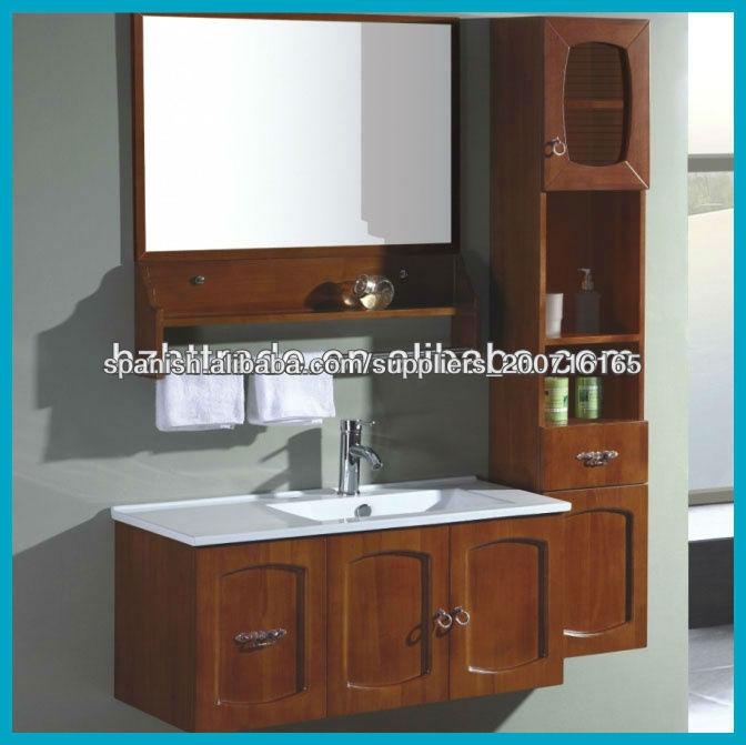 Gabinete Para Baño Madera:de madera maciza gabinete de cuarto de baño htbc- 6089-Cuarto de