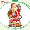 Best selling 3D effect glitter sticker Christmas wallpaper