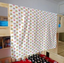 Three layer gauze printed towel blanket and sheet and coverlet