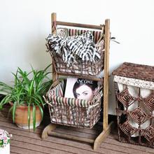 korea country style sundries collect ,magazine ,book rack wooden bracketplant shelf