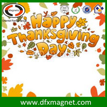 Very Beautiful Custom Thanksgiving Day Frige Magnet Card Manufacture
