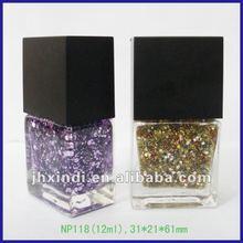 diseño de moda nueva gossip girl 12ml colorido brillo mate tapa de esmalte de uñas