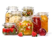 alimentos enlatados / botella de vidrio de alimentos salados