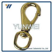"Premium Large 4-1/4"" Brass Snap Hook 3/4"" Swivel Eye - Straps, Leashes, Luggage - Taiwan"