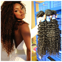 Profession production brazilian kinky curly remy hair weave