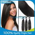 de Alta calidad , productos de pelo remy indio de la Virgen recta de total longitud de pelo largo