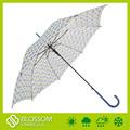 auto open 23 3pouce polka dot parapluie avec poignée en plastique
