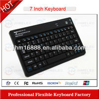 silicone bluetooth 7 inch tablet pc keyboard/case