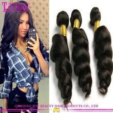 Qingdao factory supply 100% unprocessed brazilian human hair weave wholesale virgin brazilian loose wave hair