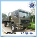 Marca famosa de China SINOTRUK HOWO 4 x 4 vehículos militares 20 ton súper ventas