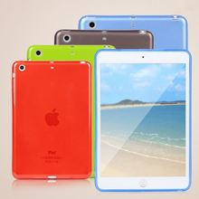 Top Quality Smooth TPU Soft Transparent Case Cover Skin Protector for Apple iPad Mini Luxury Tablet Bags