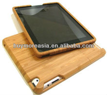 duranble and fashionable natural wood case for ipad3
